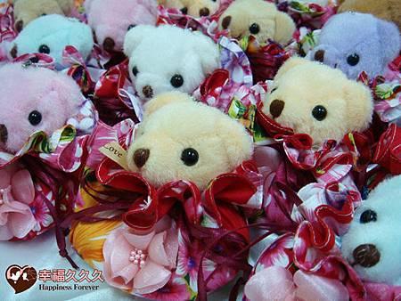 泰迪熊牡丹花福袋