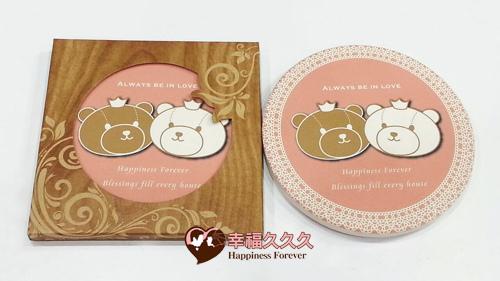 幸福熊吸水杯墊-2