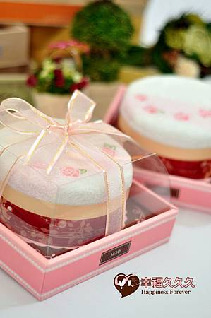 六吋玫瑰蛋糕毛巾