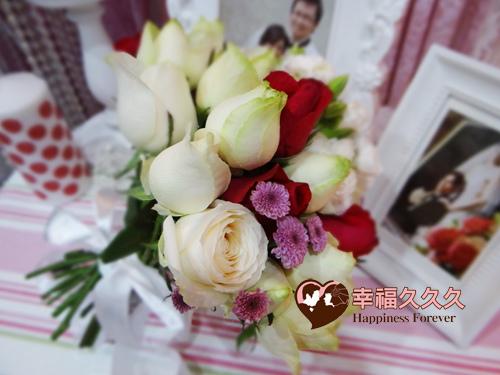 愛情魔力玫瑰捧花-1
