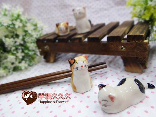 逗趣小貓筷架-3