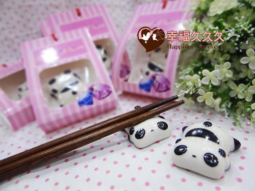 日式熊貓筷架-3