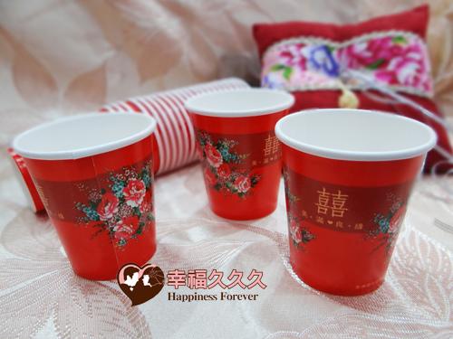 美滿良緣牡丹紙杯-1