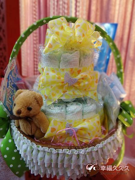 小可愛尿布蛋糕提籃綜合組