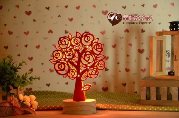 玫瑰樹薰香夜燈-1