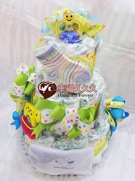 繽紛寶寶尿布蛋糕-1