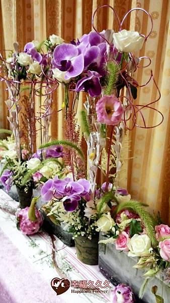 西式主桌花藝設計-1