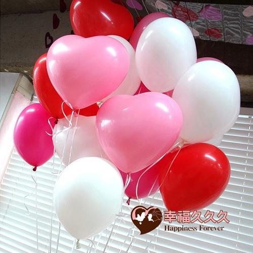 單色心型氣球