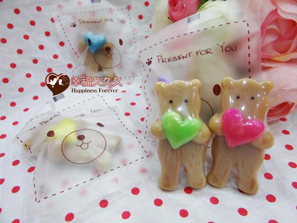 熊愛你餅乾造型手工皂-3