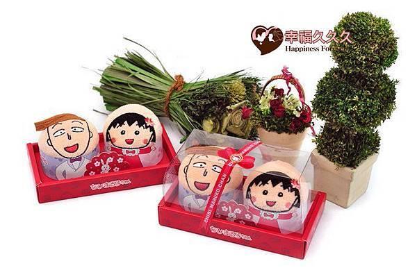 櫻桃小丸子-愛的祝福禮盒(花輪&小丸子組)