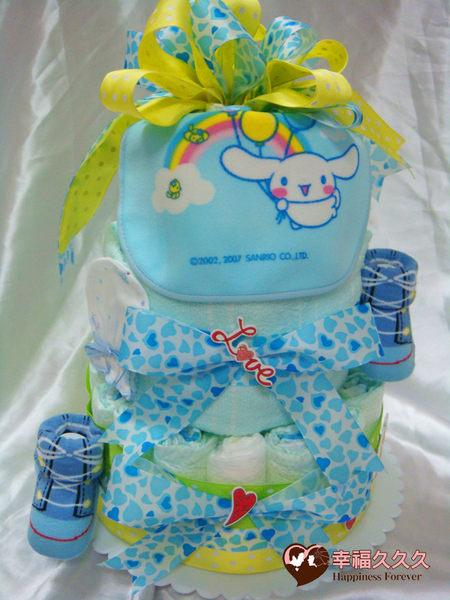 夏日藍天寶寶尿布蛋糕