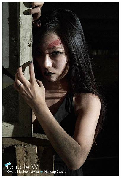 創意彩妝。特效妝。受傷妝