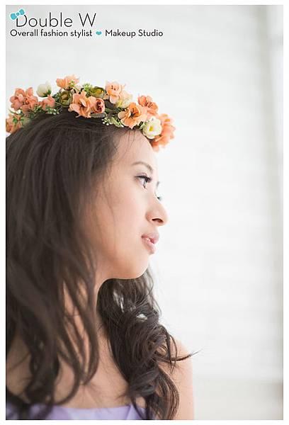 浪漫甜美。韓風婚紗。頭冠花圈。珠寶捧花