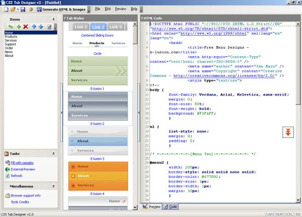 CSS Tab Designer 2