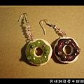 017甜甜圈耳環