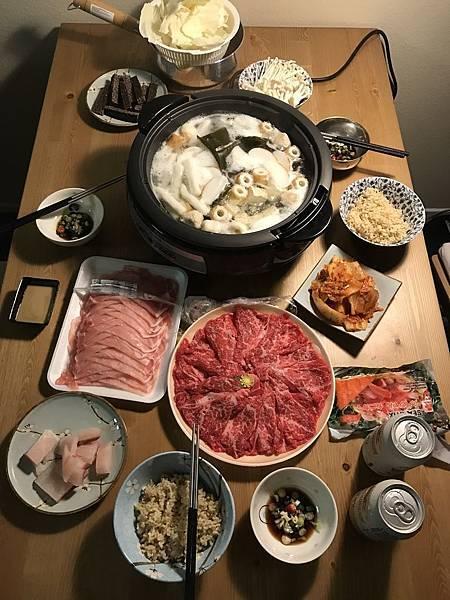 週日晚餐火鍋~讚