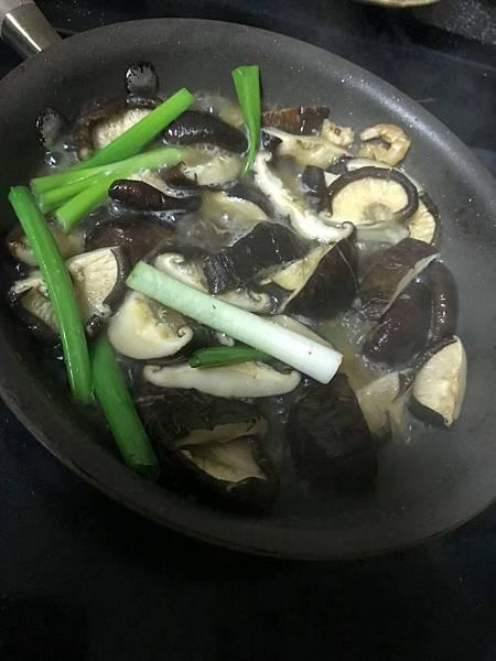 香菇和蔥 湯頭