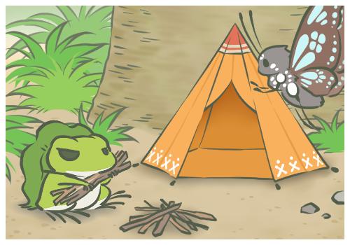 去露營了啊