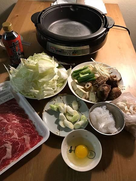 晚餐壽喜燒