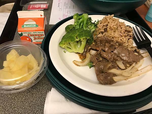 醫院提供的餐點