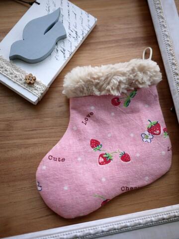 手作材料包。耶誕禮物襪