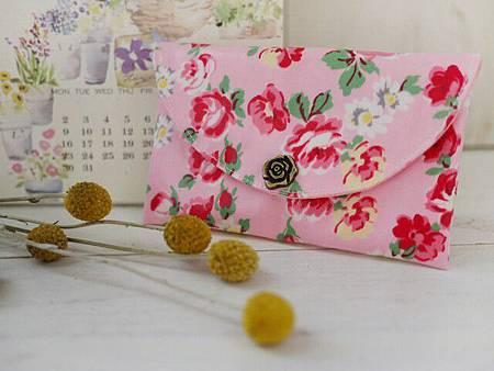 007412GHAB6A00-玫瑰朵朵防水布手拿包-3