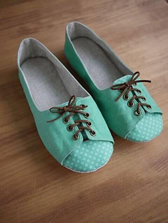 009812JCDC7A24復古綠綁帶鞋 (4)