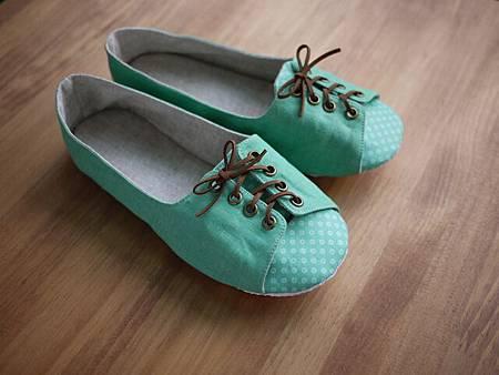 009812JCDC7A24復古綠綁帶鞋 (3)