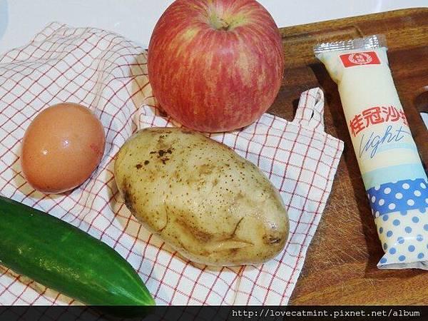 夏日的蘋果馬鈴薯沙拉