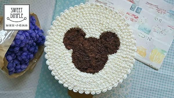 [蛋糕裝飾]巧克力米奇蛋糕