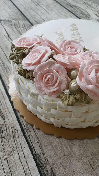 古典玫瑰藤籃蛋糕