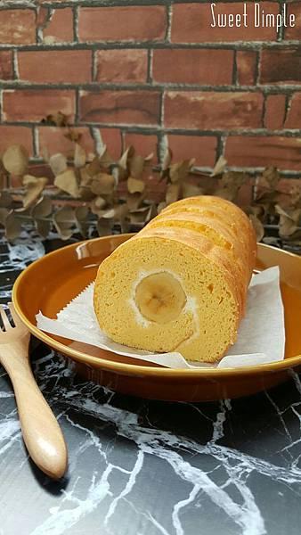 香蕉鮮奶油蛋糕捲