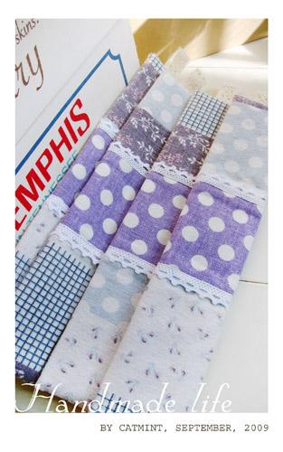 紫色田園筷套