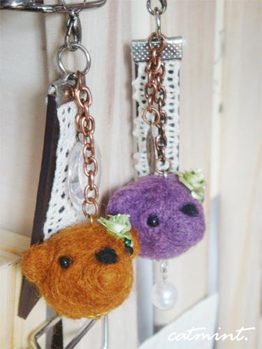 熊熊頭吊飾