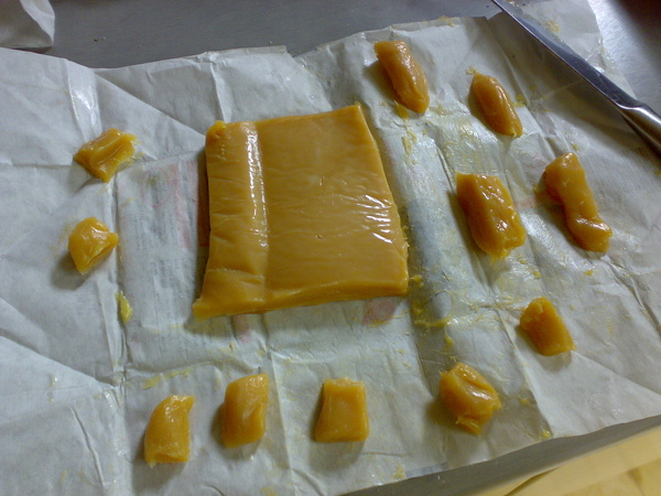 caramel making...