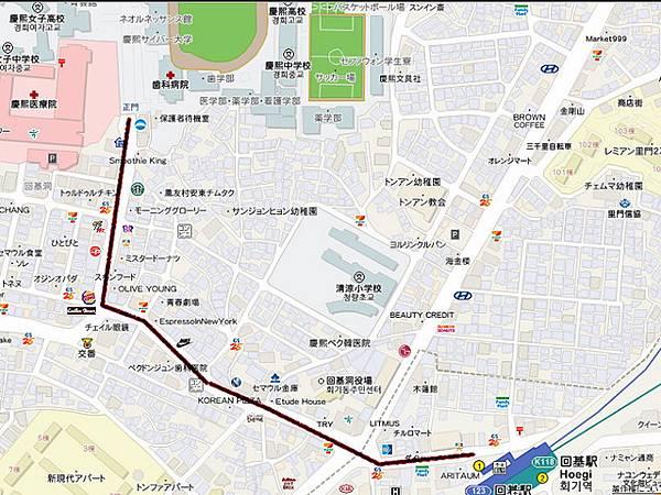 慶熙大學map