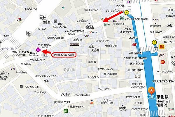 惠化站map