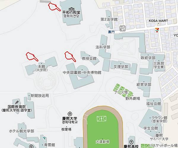 慶熙大學校園map