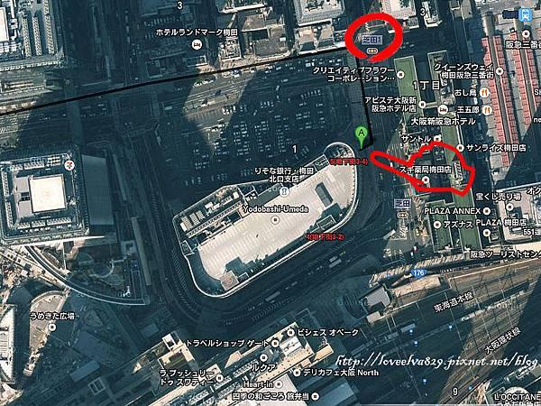 梅田空中庭園展望台路線圖1.jpg