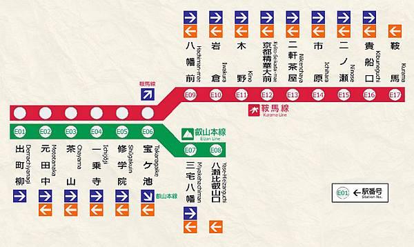 叡山電車路線圖1