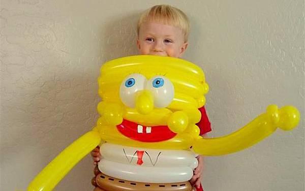 az balloon twisted spongebob
