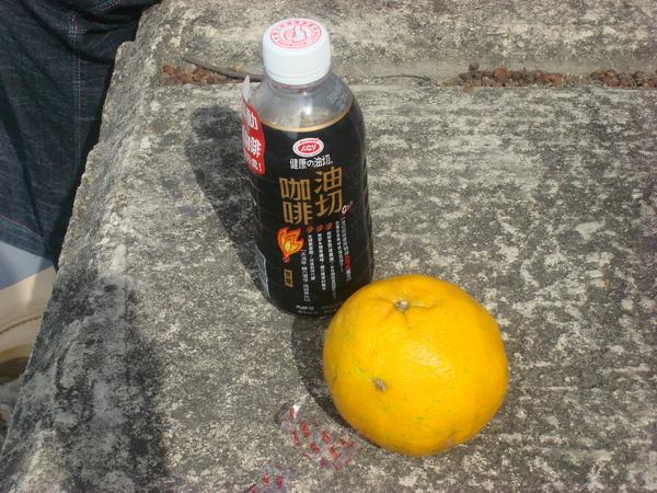 咖啡和橘子,牛和葉小魚家咪的下午茶.jpg