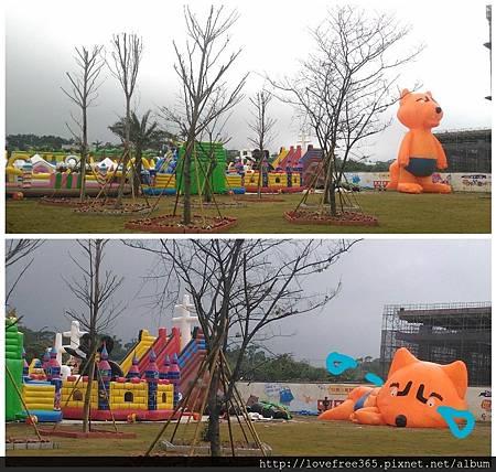 2017世界兒童手作藝術節 氣墊小狐狸都哭了