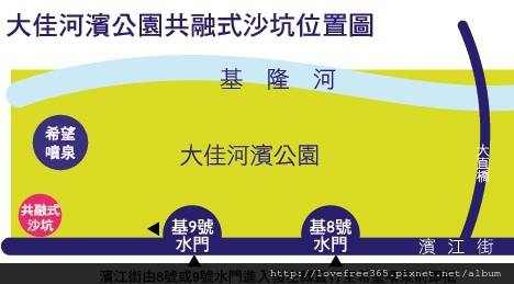 大佳河濱公園沙坑 位置