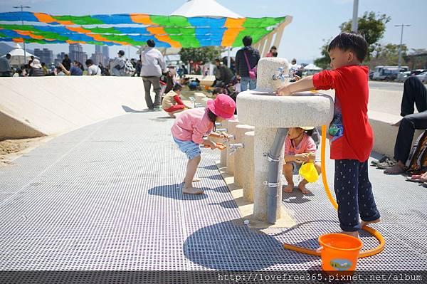 大佳河濱公園沙坑 親子洗手台