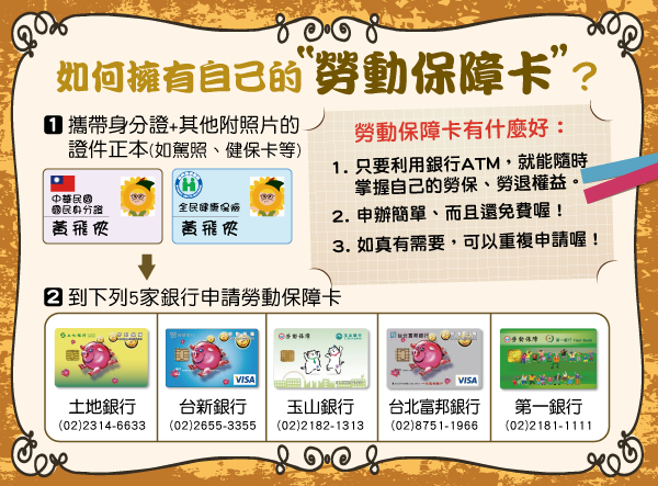 查勞保7種方式3 勞動保障卡