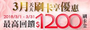 台灣樂天Rakuten優惠-3月刷卡享優惠