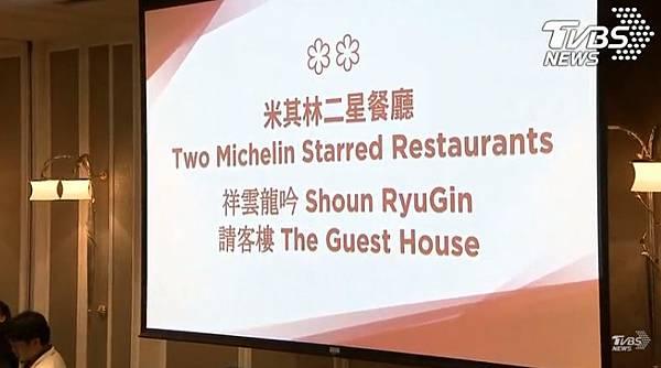2018台北米其林紅色指南 二星2家