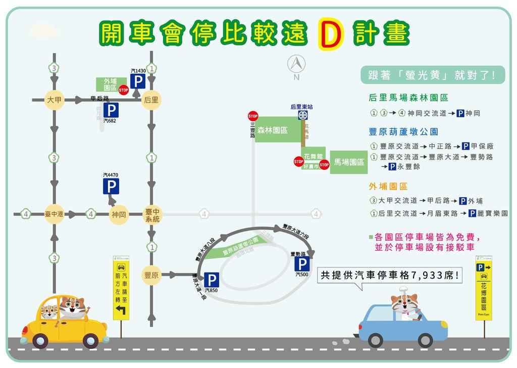 2018台中花博交通:開車會停比較遠