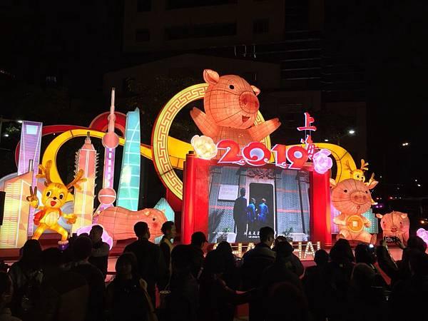 台北燈節2019搶先看,上海市、扇形餒菩噠花燈
